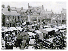 Old picture of Thirsk Market